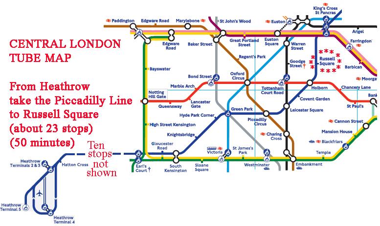 London Subway Map Russell Station.2020travellondon